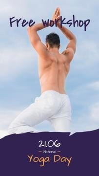 Man Practicing Yoga on White