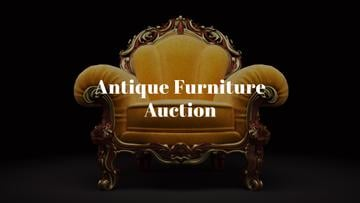 Antique Furniture Auction Luxury Yellow Armchair | Youtube Channel Art