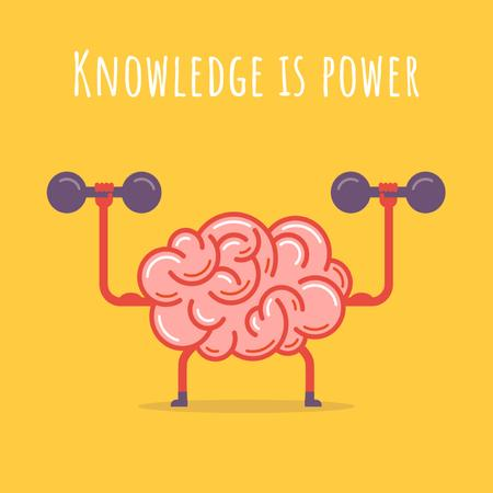 Plantilla de diseño de Brain training with dumbbells Animated Post