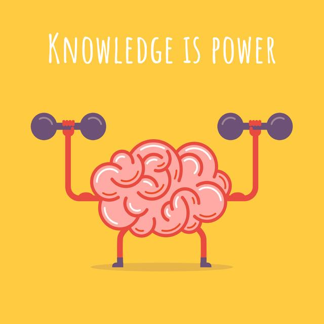 Plantilla de diseño de Brain training with dumbbells Animated Post