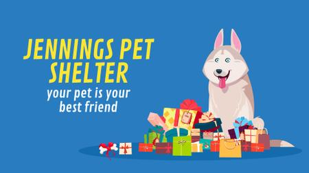 Plantilla de diseño de Animal Shelter Ad Dog by Bunch of Gifts Full HD video