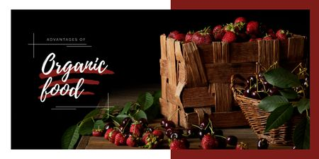 Plantilla de diseño de Raw summer berries Image