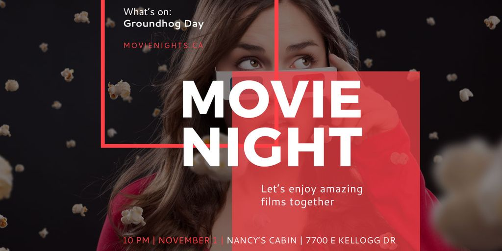 Movie night event poster — Créer un visuel