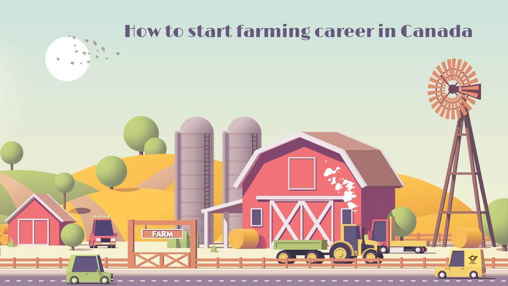 Farming Business Cars Driving by Barn — Modelo de projeto