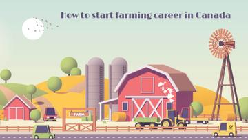 Farming Business Cars Driving by Barn | Full Hd Video Template
