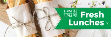 Fresh lunches happy hours banner