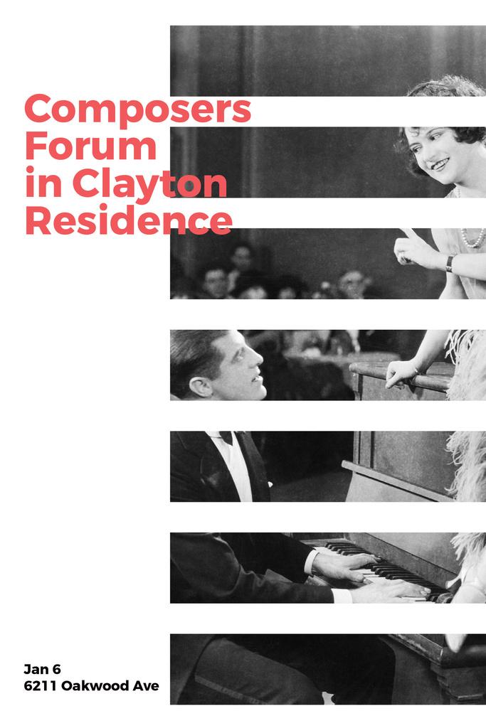 Plantilla de diseño de Composers Forum in Clayton Residence Pinterest