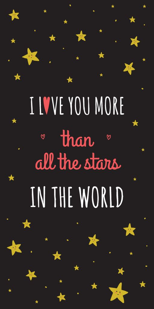 Valentines Love Quote with stars — Створити дизайн