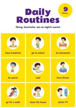 Daily Routine Chart for Kids | Poster Template