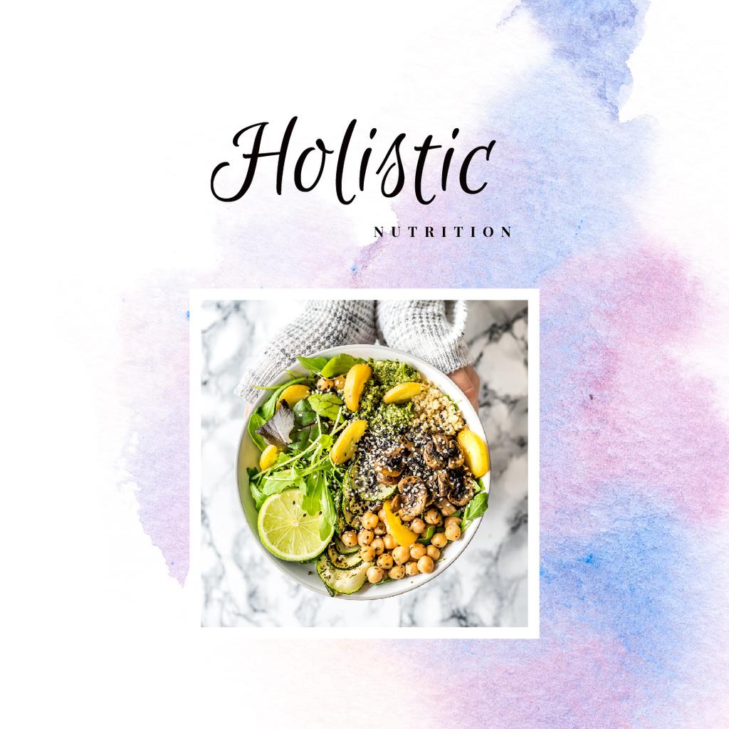 Modèle de visuel Meal with greens and vegetables - Instagram