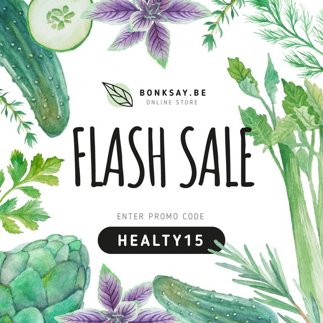 Healthy Nutrition Sale Instagram Design Template