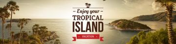 Exotic tropical island vacation poster