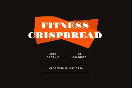 Heathy Fitness food ad Label Modelo de Design