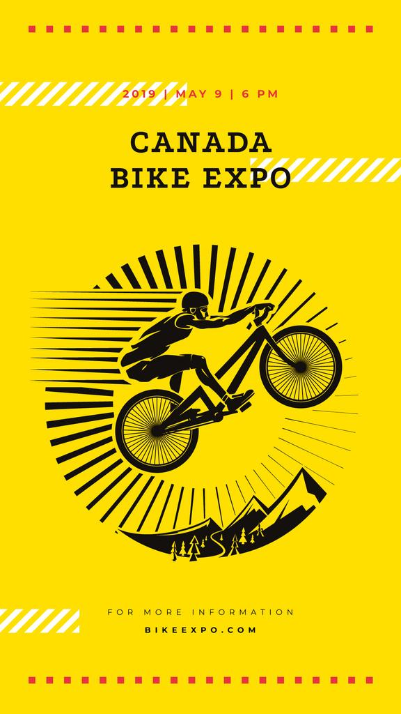 Cyclist jumping on bike — Crea un design