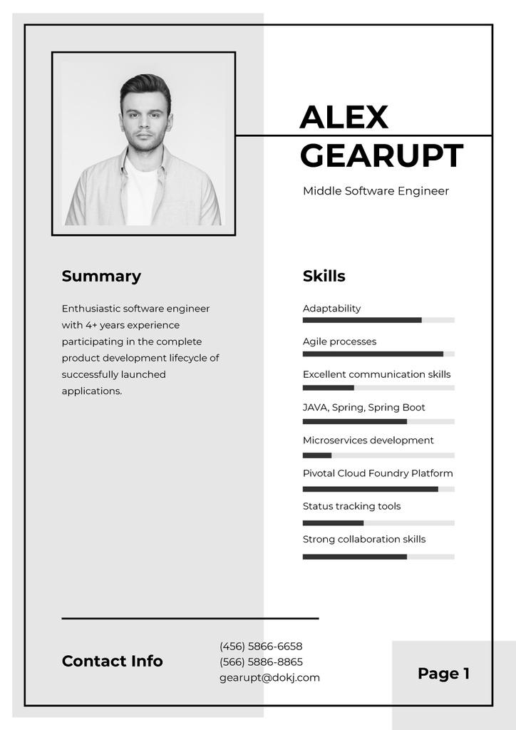 Professional Software Engineer profile — ein Design erstellen