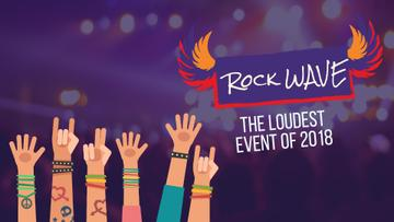 Rock Concert Invitation Excited Crowd