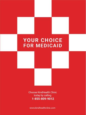 Template di design Medicaid Clinic Ad Red Cross Poster US