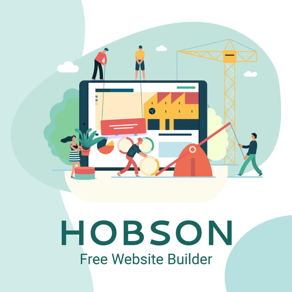 Business team creating website — Créer un visuel