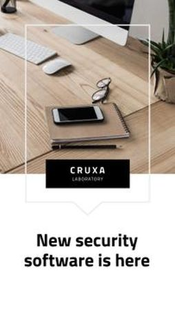 Template di design Security software promotion Mobile Presentation