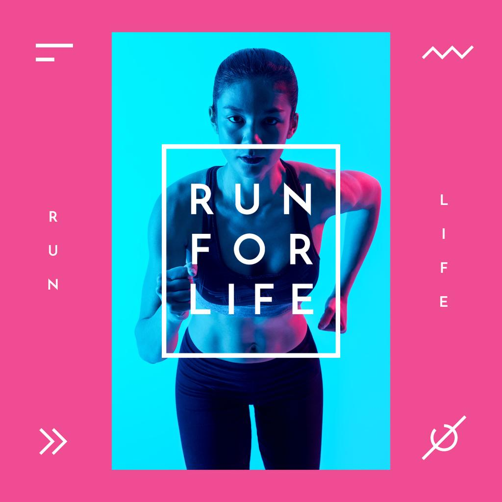 Sportive young woman — Створити дизайн