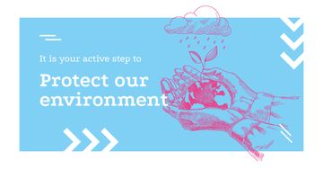 Environment Protection Hands Holding Earth | Facebook Ad Template