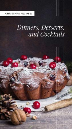Christmas festive cake Instagram Story – шаблон для дизайну