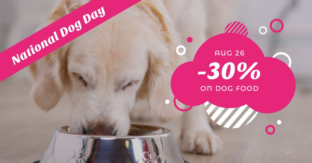 Discount card for dog food on national dog day — Create a Design