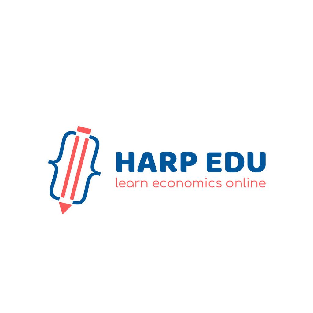 Educational Center with Pencil Icon - Bir Tasarım Oluşturun
