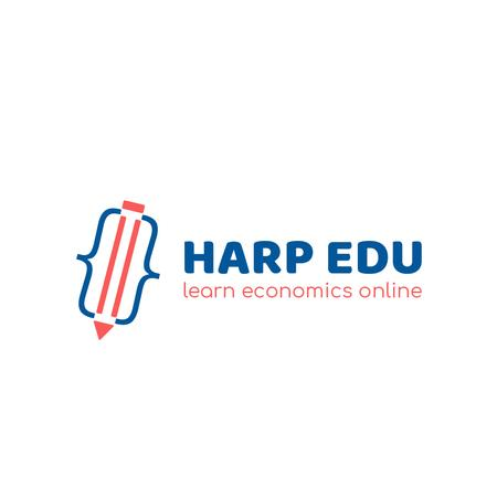 Educational Center with Pencil Icon Logo – шаблон для дизайну