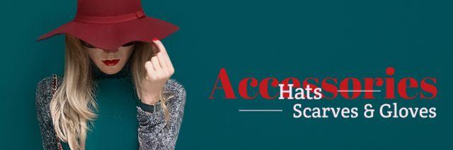Advertisement for female clothing store Email header Tasarım Şablonu