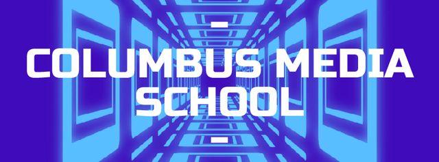 Modèle de visuel Moving through blue tunnel - Facebook Video cover