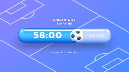 Game Stream Ad with Sports Field illustration Twitch Offline Banner – шаблон для дизайну