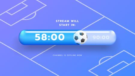 Game Stream Ad with Sports Field illustration Twitch Offline Banner Modelo de Design