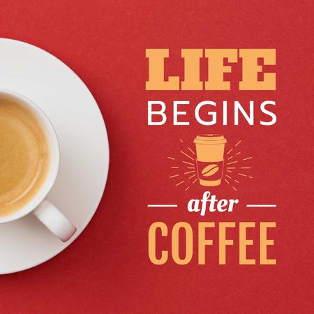Template di design Cup of Coffee on Red table Animated Post