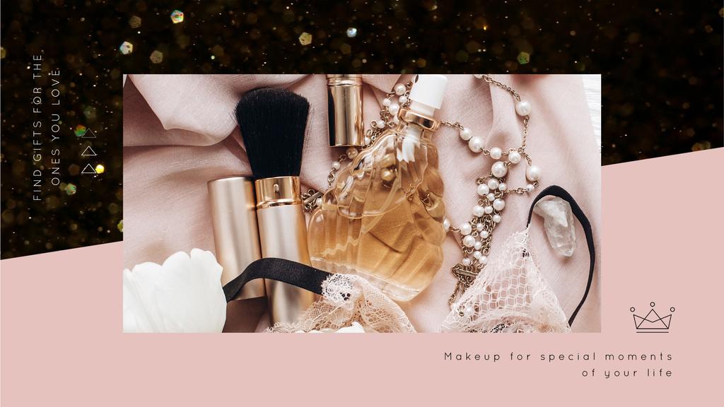 Makeup cosmetics set — Créer un visuel