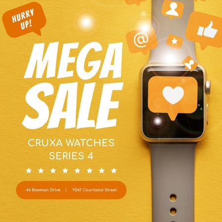 Ontwerpsjabloon van Instagram van Smartwatches sale with Heart sticker