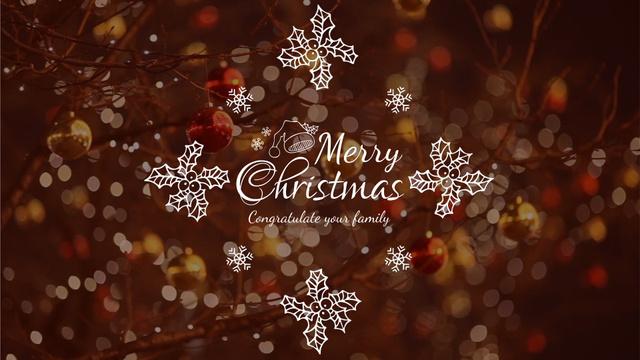 Ontwerpsjabloon van Full HD video van Shiny Christmas decorations