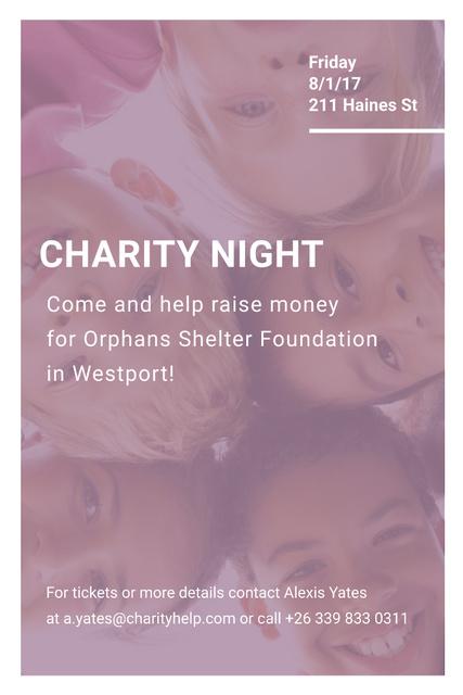 Corporate Charity Night Pinterest Design Template