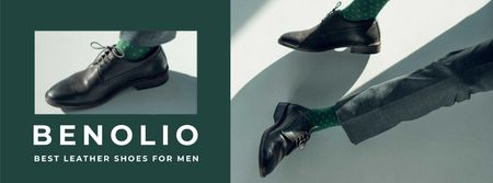 Fashion Sale man in Stylish Shoes Facebook cover Modelo de Design