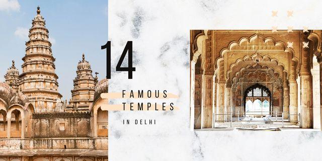 Old Indian buildings Image – шаблон для дизайну