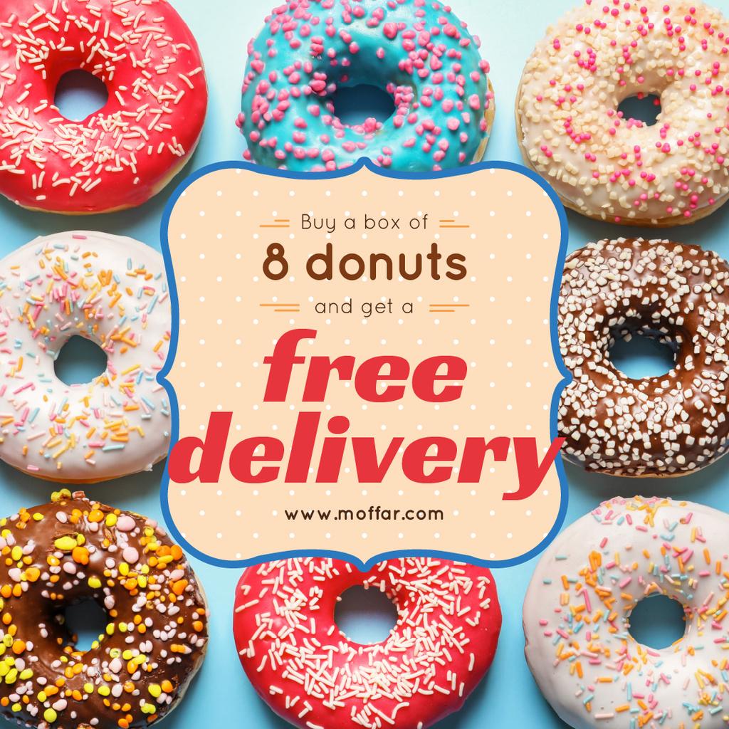 Delicious glazed donuts — Create a Design