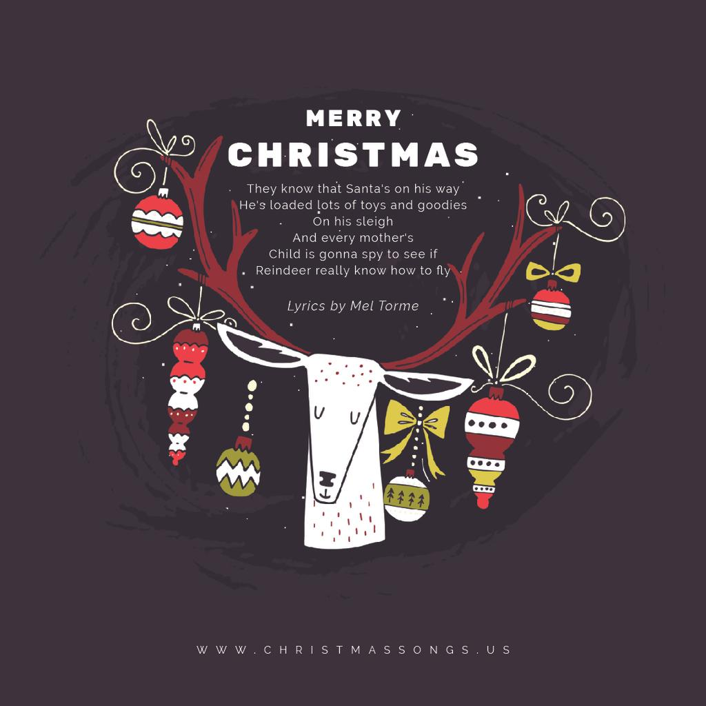 Christmas deer with baubles — Crear un diseño