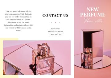 Luxurious Perfume Ad in Pink