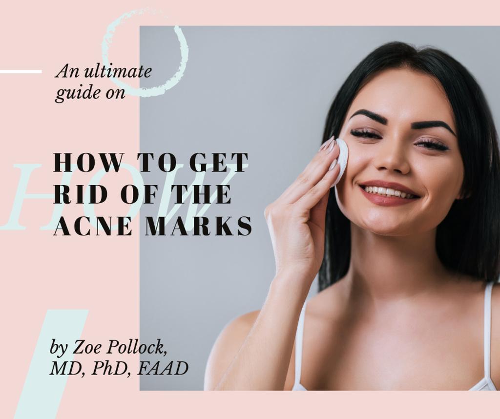 Skin Care Tips Woman cleaning Face — Crear un diseño
