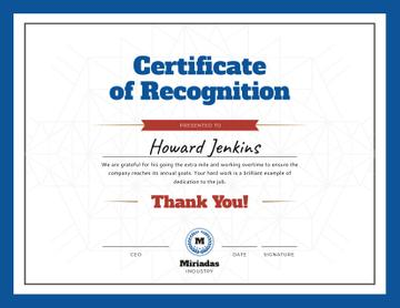 Company Employee Recognition in blue