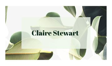 Green Plant Leaves Frame | Business Card Template