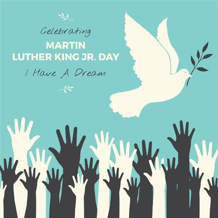 Plantilla de diseño de Martin Luther King day Greeting Instagram