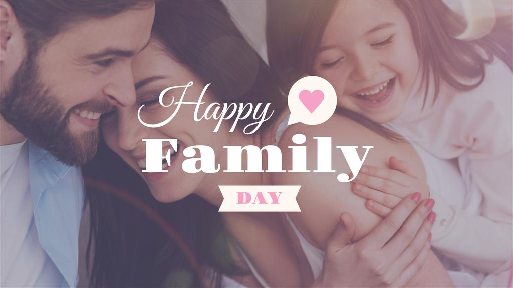 Happy Family Day Parents with Daughter | Youtube Channel Art — Создать дизайн