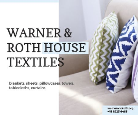 Warner & Roth House Textiles Large Rectangleデザインテンプレート