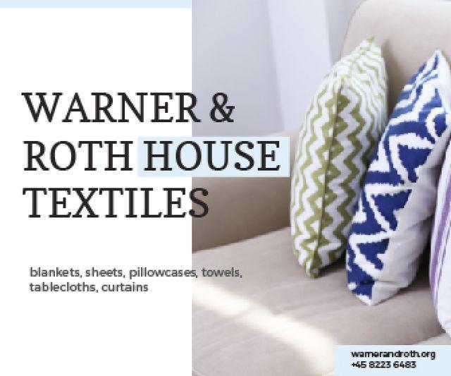 Warner & Roth House Textiles Large Rectangle Modelo de Design